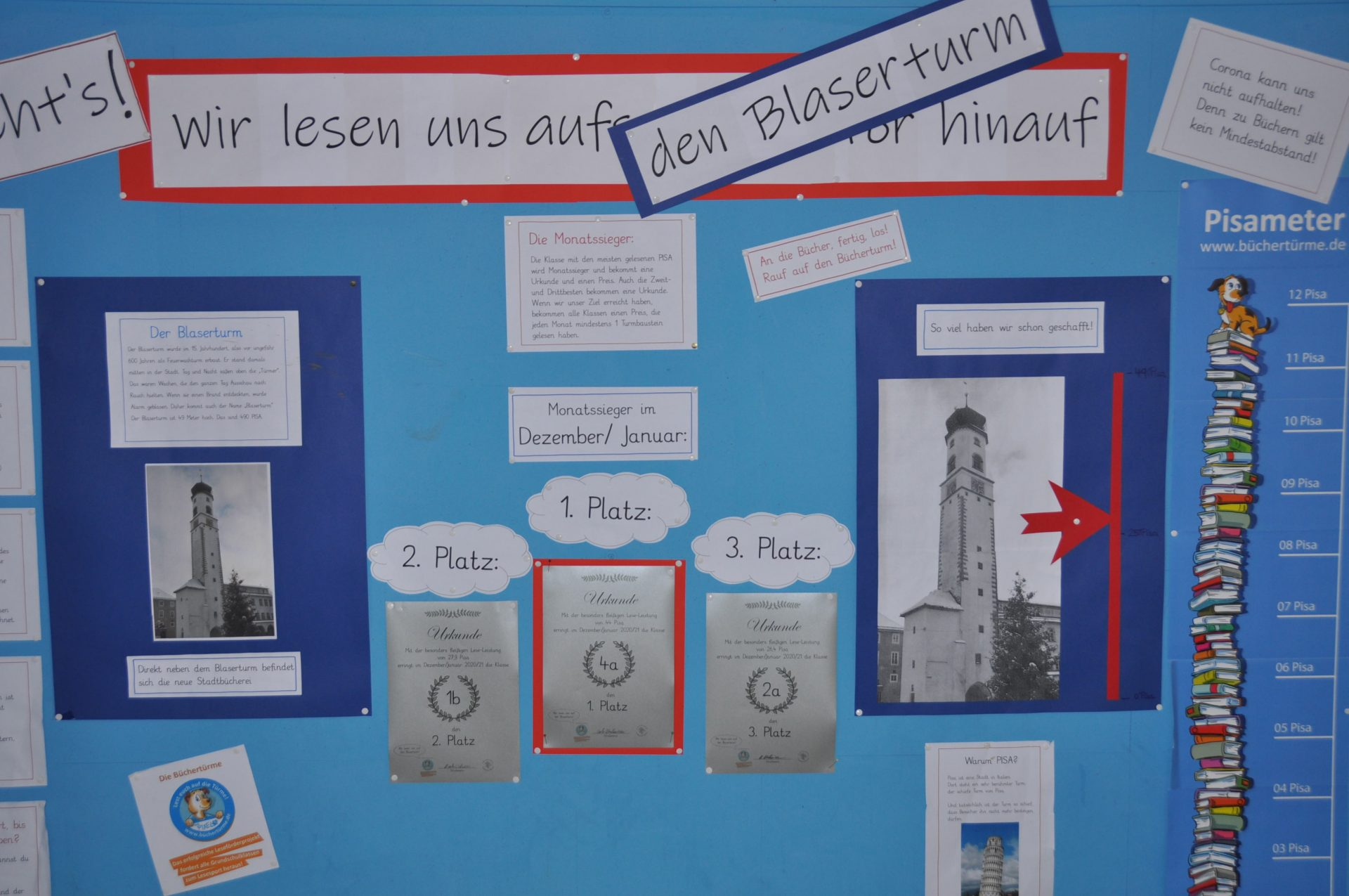 Bücherturm-Projekt: Unsere Monatssieger